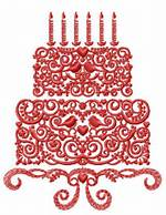 Machine Embroidery Design Birthday Cake