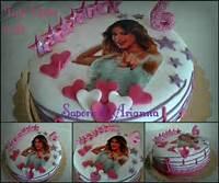 Pics Photos  Torta Di Compleanno Violetta Con Pasta Zucchero In
