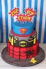 Superhero Birthday Party Cake
