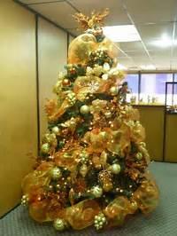 Arbol De Navidad Decoracion En Dorado