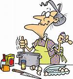 Old Lady Baking Clip Art