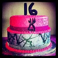 Sweet 16 Camo Cake