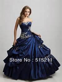 Blue Gothic Wedding Dresses