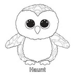 Free coloring pages of beanie boo coularing page