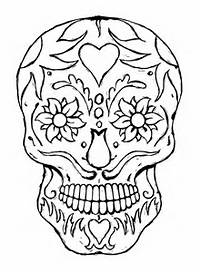Printable Adult Coloring Pages Skulls