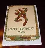 Browning Deer Birthday Cakes