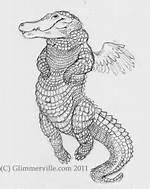 Alligator With Wings Drawings