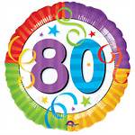 80th Birthday Balloons