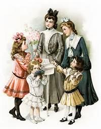 Vintage Victorian Birthday Clip Art