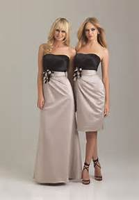 Short Champagne Colored Bridesmaid Dresses