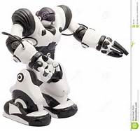 Black And White Robot Toy