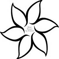 Flower Outline Template
