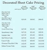 Sheet Cake Pricing
