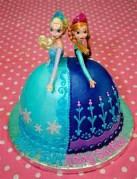 Anna And Elsa Frozen Cakes