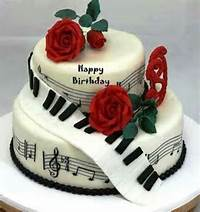 Happy Birthday Cake With Music Notes
