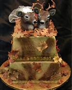 Camo Hunting Wedding Cake