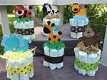 Jungle Theme Baby Shower Centerpieces