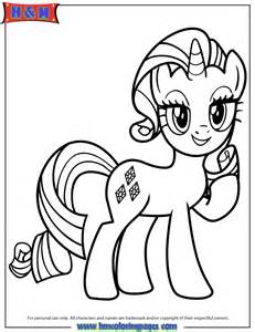 Unicorn Pony Rarity Coloring Page | H & M Coloring Pages
