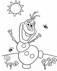Frozen Olaf Coloring Page
