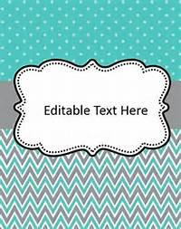 Editable Binder Cover Templates