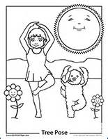 kids yoga poses Colouring Pages (page 3)