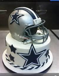 Dallas Cowboys Fan For A Birthday Cake