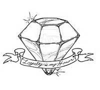 Diamond Tattoo Design Drawings