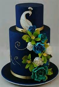Elegant Peacock Wedding Cake