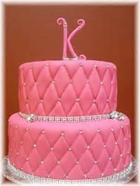 Pink Fondant Birthday Cake