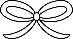 Hair Bow Outline Hair bow coloring page