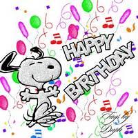 Snoopy Happy Birthday Wishes