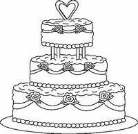 Wedding Cake Coloring Pages Print