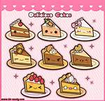 Cute Cake Drawings With Faces Kawaii