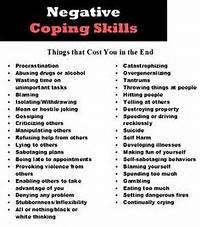 Negative Coping Skills List