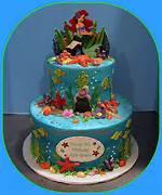 Ariel Little Mermaid Birthday Cake
