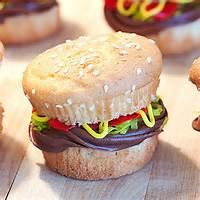 Cute Burger Cupcakes