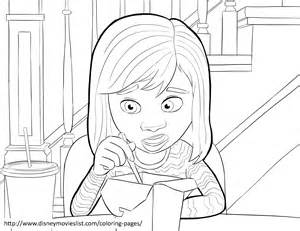 ... Out Coloring Pages Sheet, Free Disney Printable Inside Out Color Page