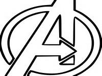 Avengers Logo Coloring Page