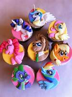 Cute My Little Pony Cupcakes