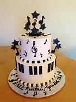 Music Note Themed Birthday Cake