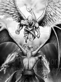 Angel Vs Demon Tattoo Designs