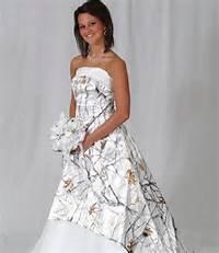 Winter Camo Wedding Dress