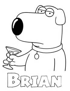 Family Guy – Brian Coloring Page | H & M Coloring Pages