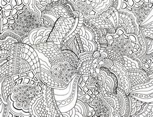 very detailed pattern coloring pages
