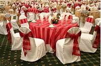 Red And White Wedding Reception Decorations