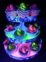 Neon Glow In The Dark Cupcakes