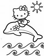 Hello Kitty Dolphin Coloring Pages