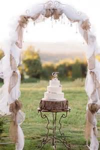 Rustic Wedding Arches With Tulle And Burlap