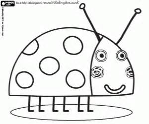 ... the Ladybird, the best friend insect from Ben and Holly coloring page