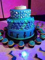 Decoracion De Pasteles 15 Anos Azul